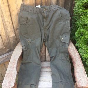 Carhartt jeans.